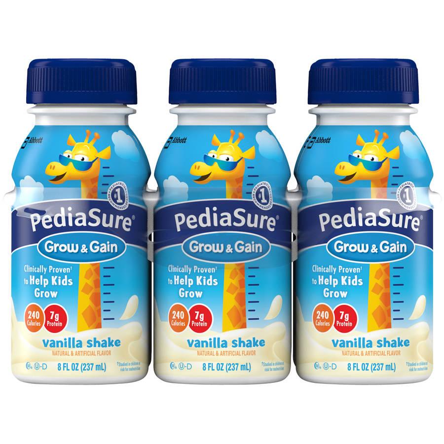 PediaSure Grow & Gain Vanilla Shakes, 8 fl oz, 6 count