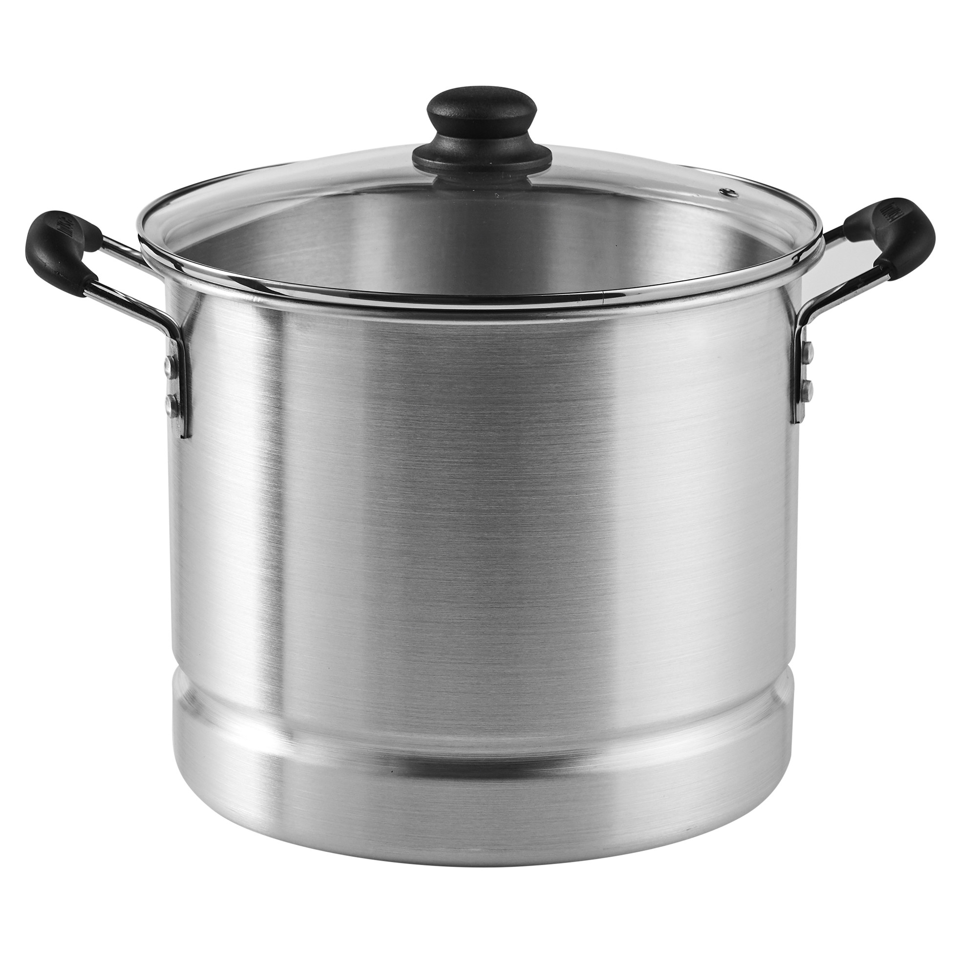 imusa Aluminum 16 Quart Steamer with Glass Lid and Rack, 2 Piece