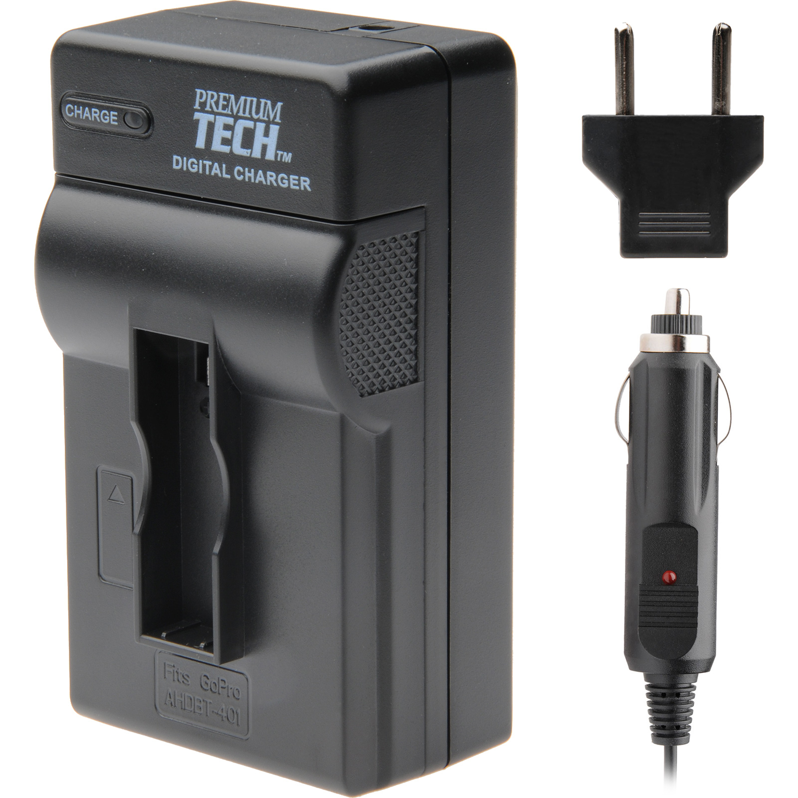 Premium Tech PT-89 Professional Travel Battery Charger for GoPro AHDBT-401 Battery