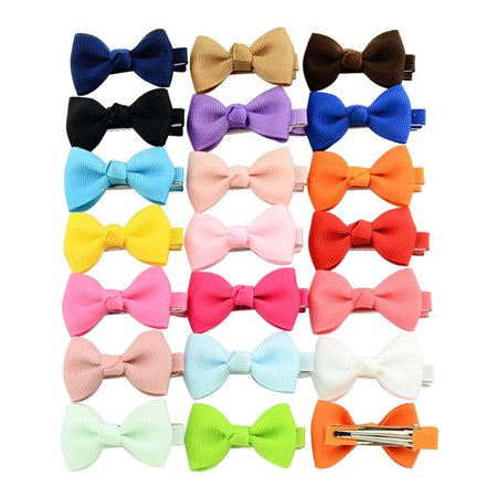 20Pcs Baby Girls Hair Clips Hair Barrettes Small Bows Claw Clips Hair Clips Hair Accessories for Baby Girls Toddler Child Girls