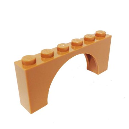 Brick Building Sets Original LEGO® Parts: Brick, Arch 1 x 6 x 2 - Thin Top #15254 (Medium Dark Flesh)