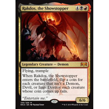 MtG Ravnica Allegiance Rakdos, the Showstopper (Glasrahmen Randlos)