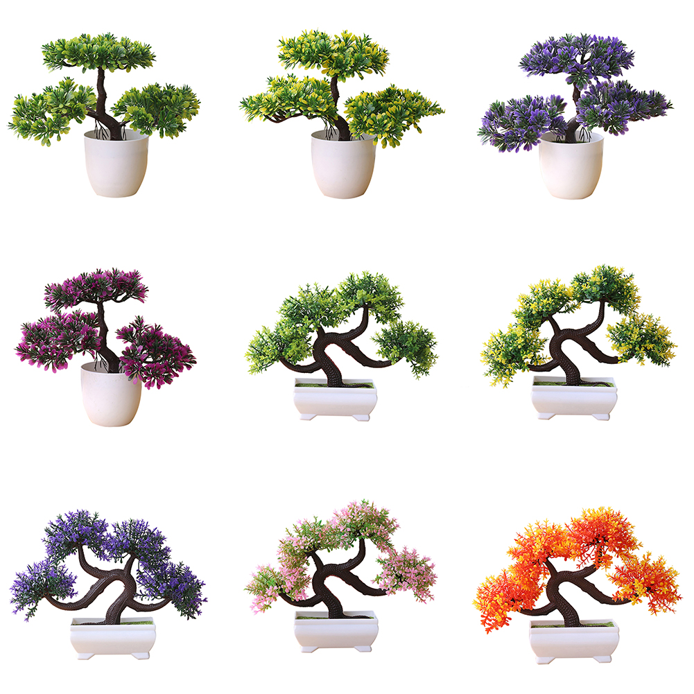 Directer Artificial Plant Tree Bonsai Fake Potted Ornament Home Hotel Garden Decoration
