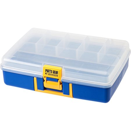 IRIS Parts Gear Orgainzer Case, Blue, Buckle keeps contents safe and secure By IRISUSAInc from USA