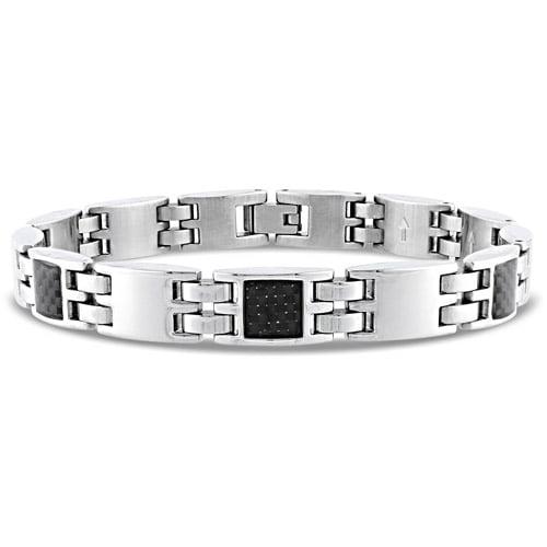 """Men's Stainless-Steel Bracelet, 8-1/2"""""""