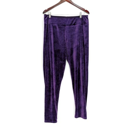 Plush Legging - Cuddl Duds Leggings Sz XL Double Plush Velour Purple A293100