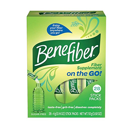 2 Pack BeneFiber Fiber Supplement on the Go! 28 Stick Packs Each