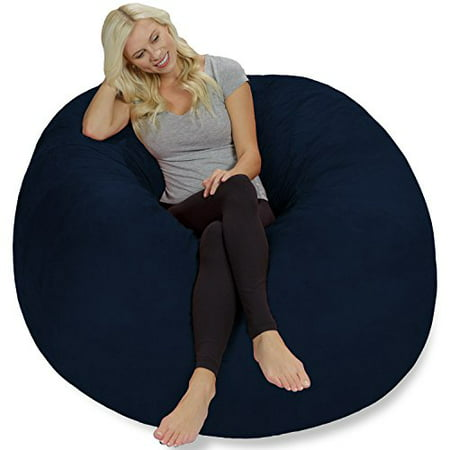 Chill Bag - Bean Bags Bean Bag Chair, 5-Feet, Navy - Chill Bag - Bean Bags Bean Bag Chair, 5-Feet, Navy - Walmart.com