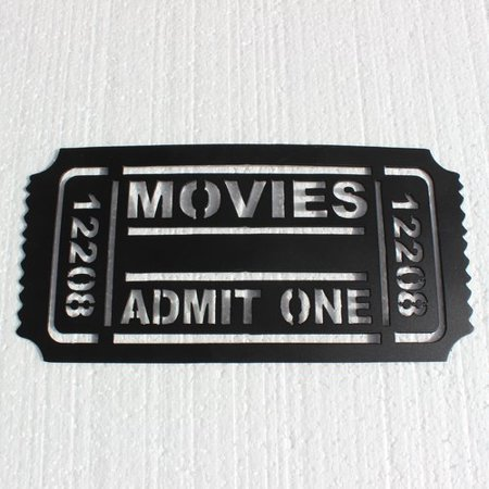Say It All On The Wall Home Theater Movie Ticket Admit One Metal Wall D Cor