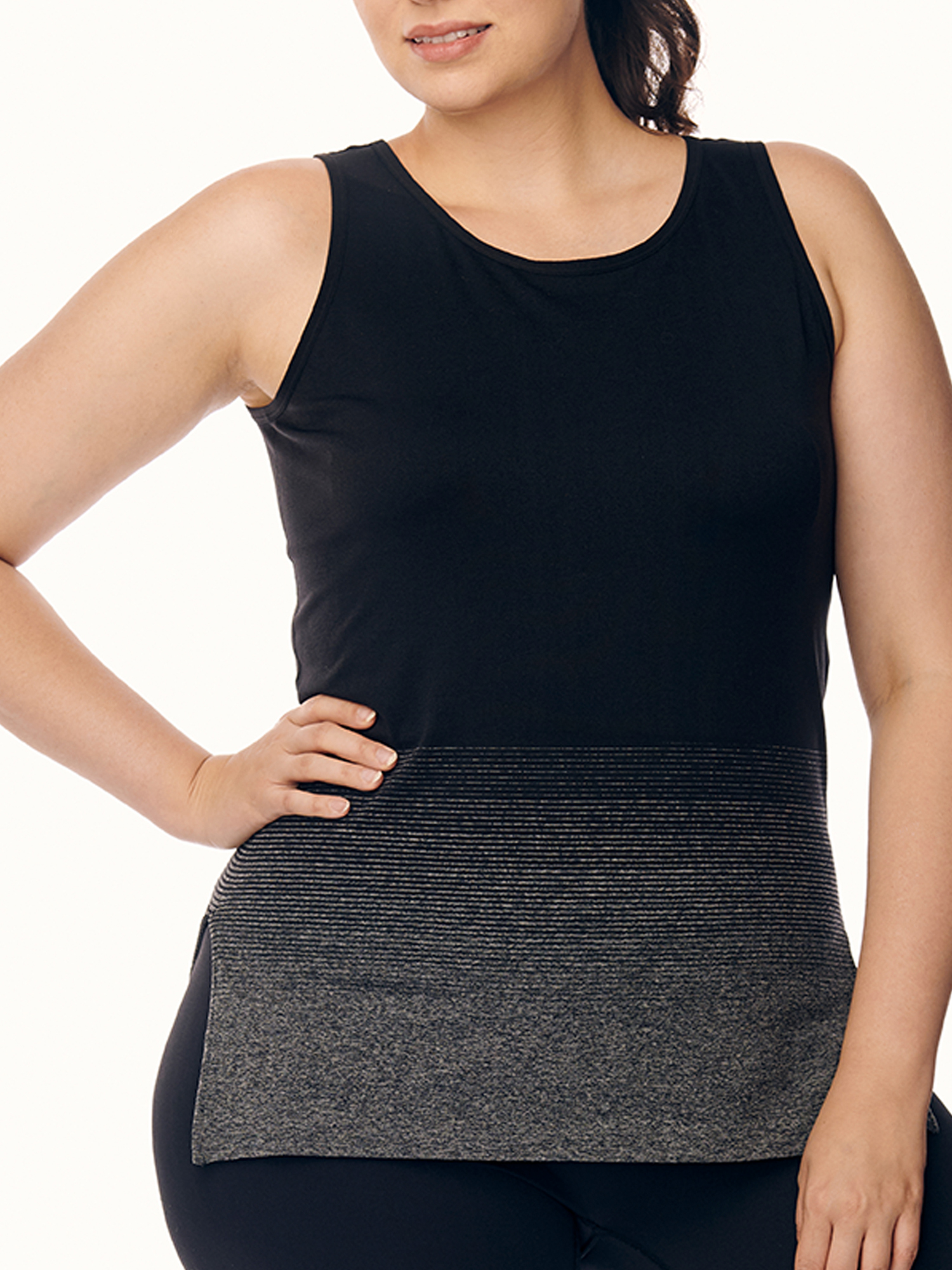 Women's Plus Size Active Tunic Tank with Ombre Graphic