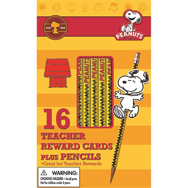 Eureka EU-610134 Peanuts Snoopy Way To Go Pencils With