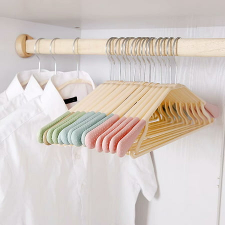 12Pcs Non-slip Coat Hangers Space Saving Clothes Hangers Drying Rubber Shoulder Drying Racks Perfect for Pants, dress, jacket, Underwear and Shirt