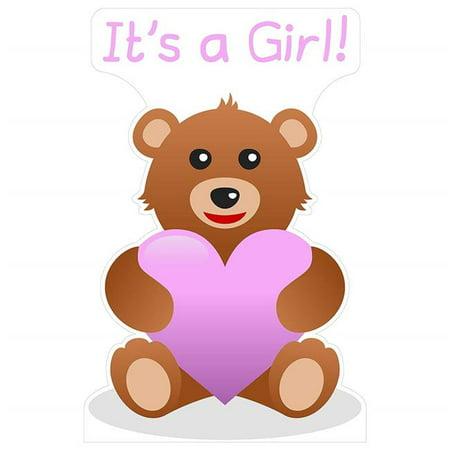 Star Cutouts SC2065 Its a Girl Teddy Bear Cardboard Cutout - Photo Stand Ins Cutouts