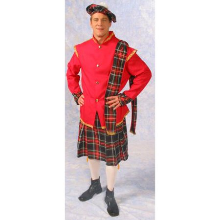 Scottish Lad Kilt Jacket Costume Adult