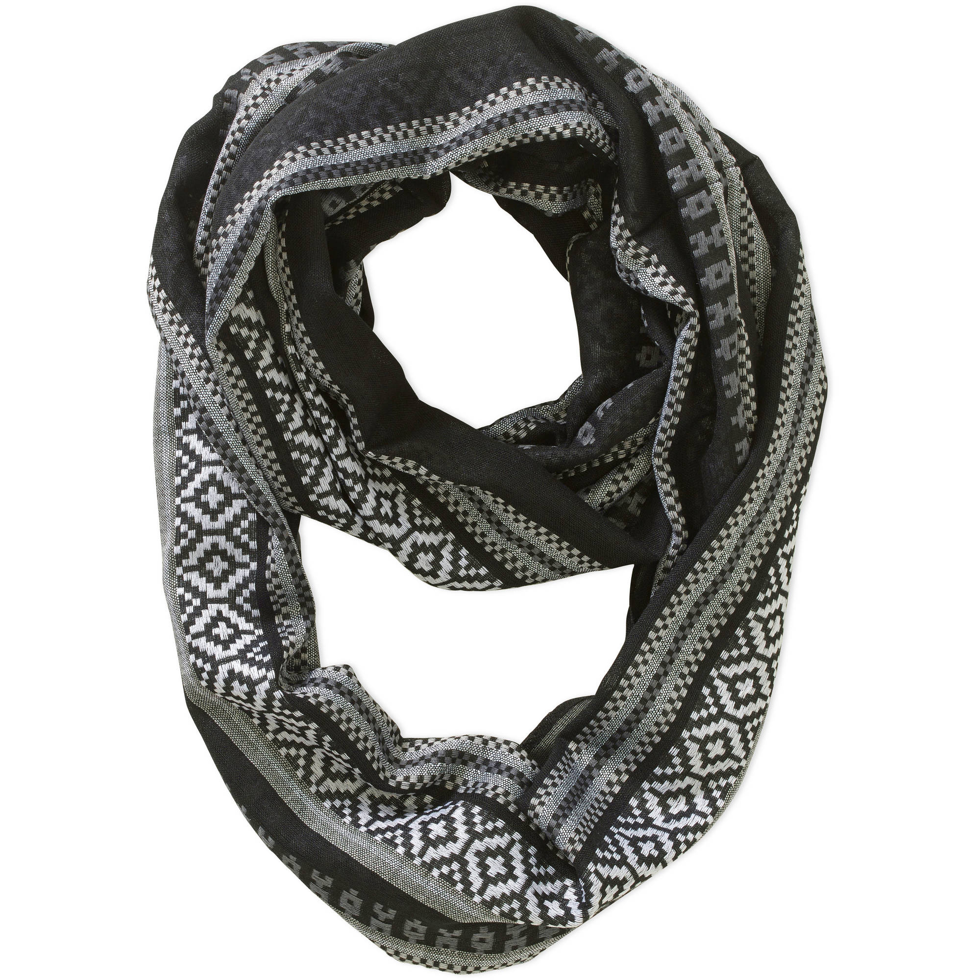 Women's No Boundaries Stripe Boho Inspired Oblong Scarf
