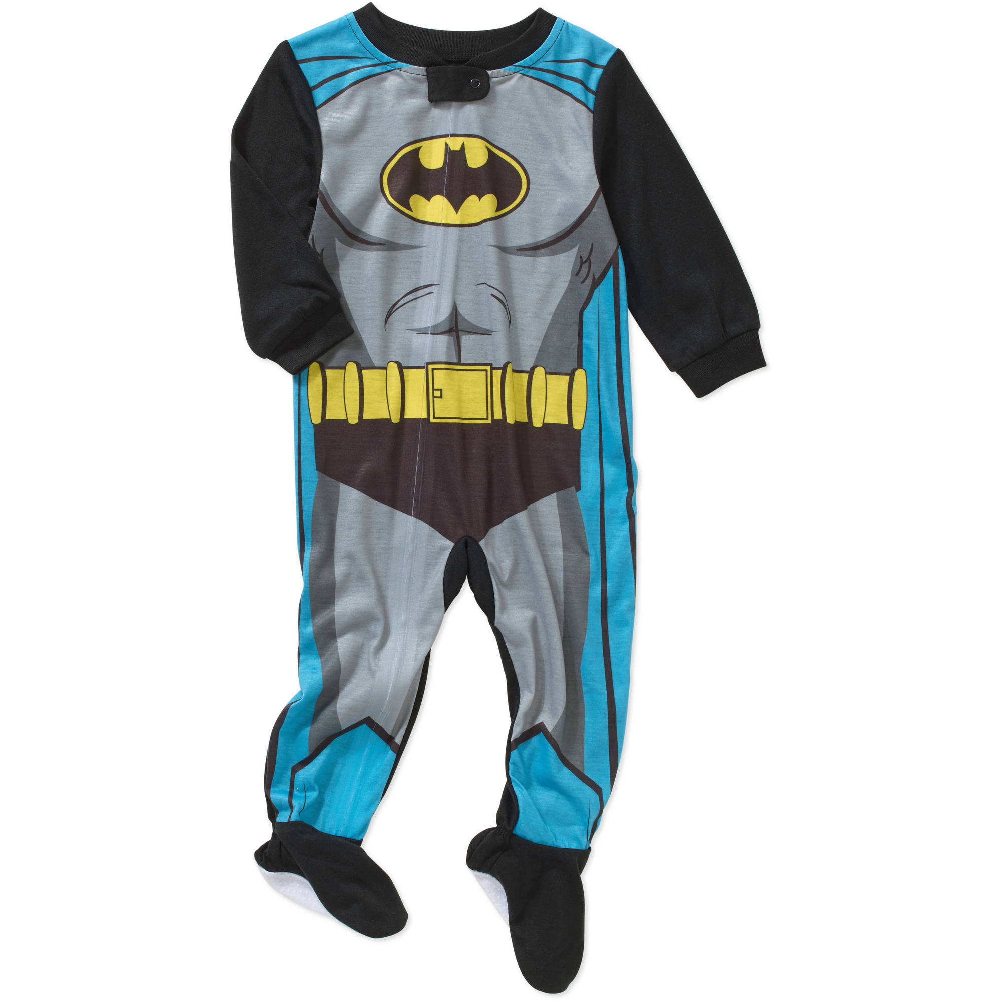 Batman Newborn Infant Baby Boy Footed Blanket Sleeper