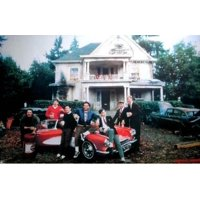 Animal House on the lawn Poster Poster Print
