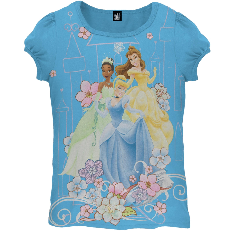 Princesses - Floral Castle Girls Juvy T-Shirt