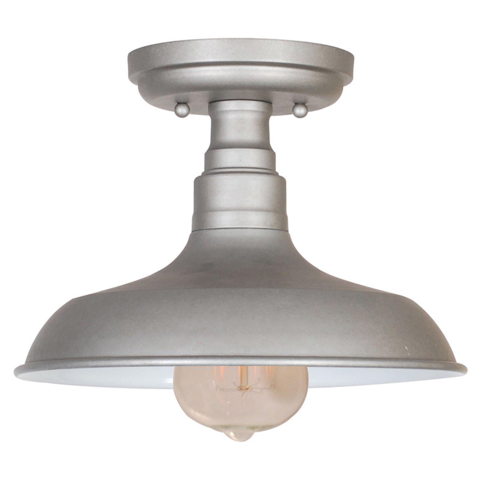 Design House 519876 Kimball 1-Light Ceiling Mount Industrial Light, Galvanized Steel