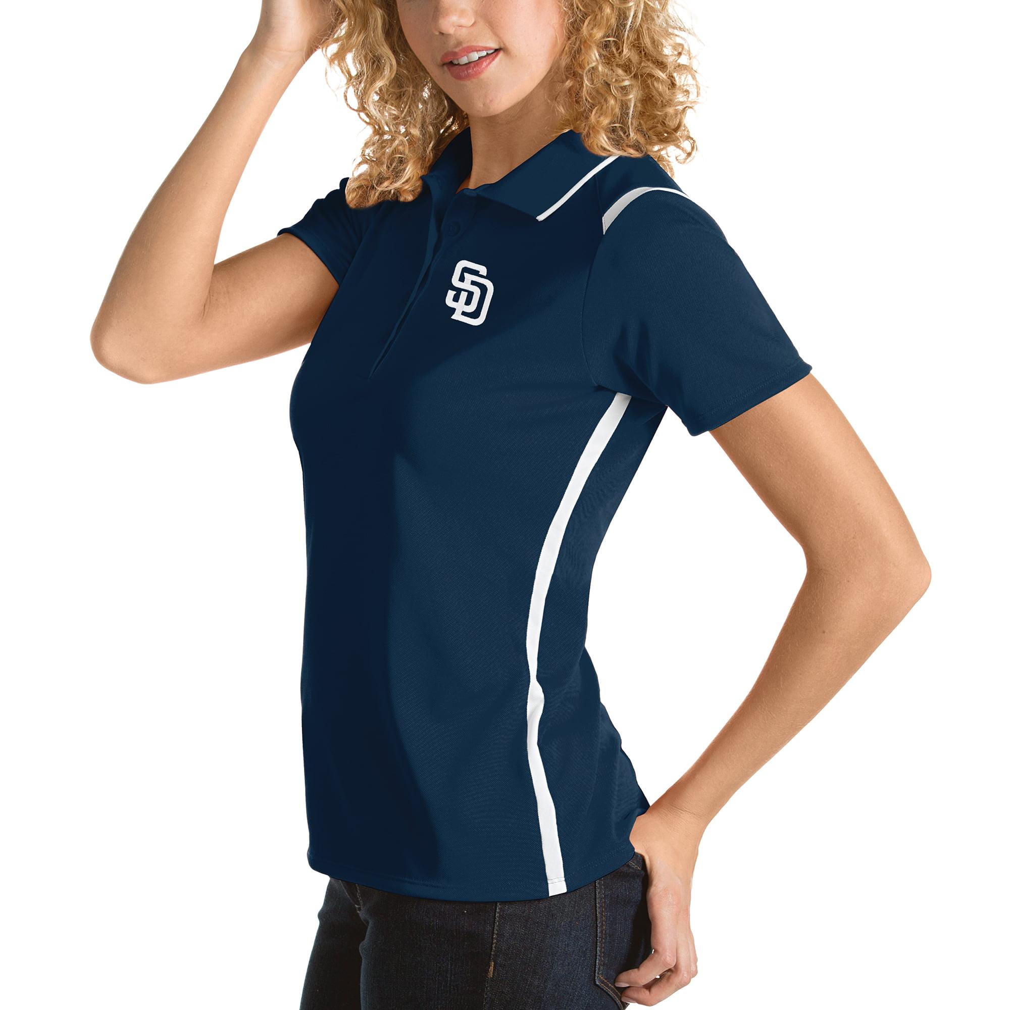 San Diego Padres Antigua Women's Merit Polo - Navy