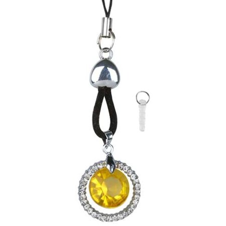 Cell phone Mobile Charm TA3415 Yellow Crystal