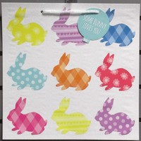 Easter -wal-mart Lg Sq Easter Gift Bag Patterned Bunnies