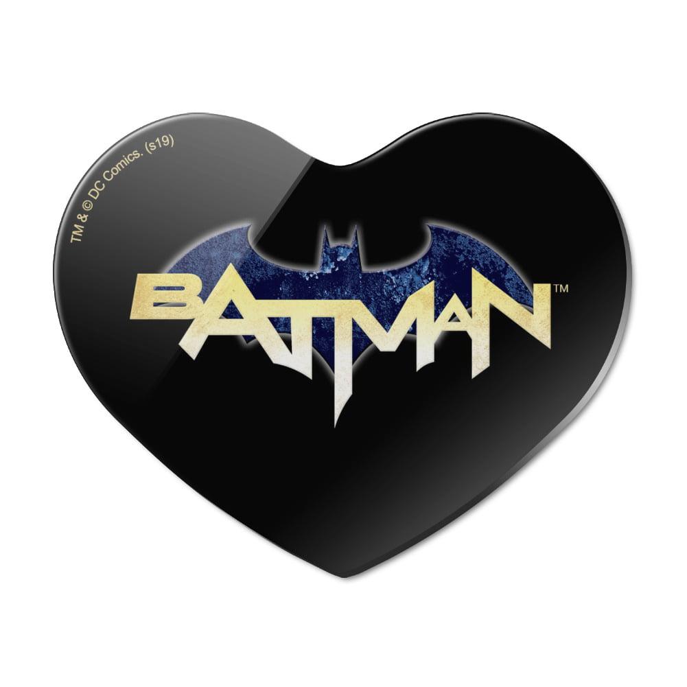 Batman Engraved Fridge Magnet in Black With Gift Bag