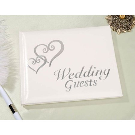 Linked Hearts Wedding Guest Book Silver by, Vinyl By Victoria Lynn