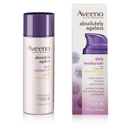 Aveeno Absolutely Ageless Daily Moisturizer With Sunscreen Broad Spectrum Spf 30  1 7 Fl  Oz