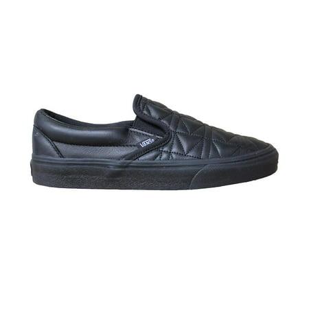 Vans Women's Classic Slip On Karl Lagerfeld Black Quilt Skateboarding Shoes