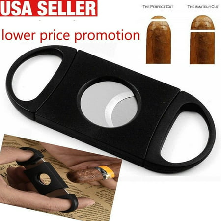 Cigar Cutter Stainless Steel Double Cut Blade Cigar Guillotine (Palio Cigar Cutter Best Price)