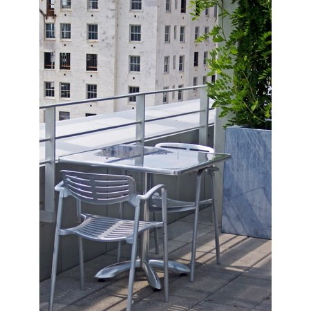 - Canvas Print Sitting Modern Rooftop Terrace Table Contemporary Stretched Canvas 10 x 14