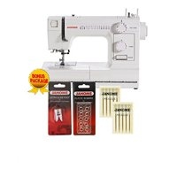 Janome HD1000 Heavy-Duty Sewing Machine with 14 Built-In Stitches - Janome HD1000 Machine w-4-Piece Bonus Kit