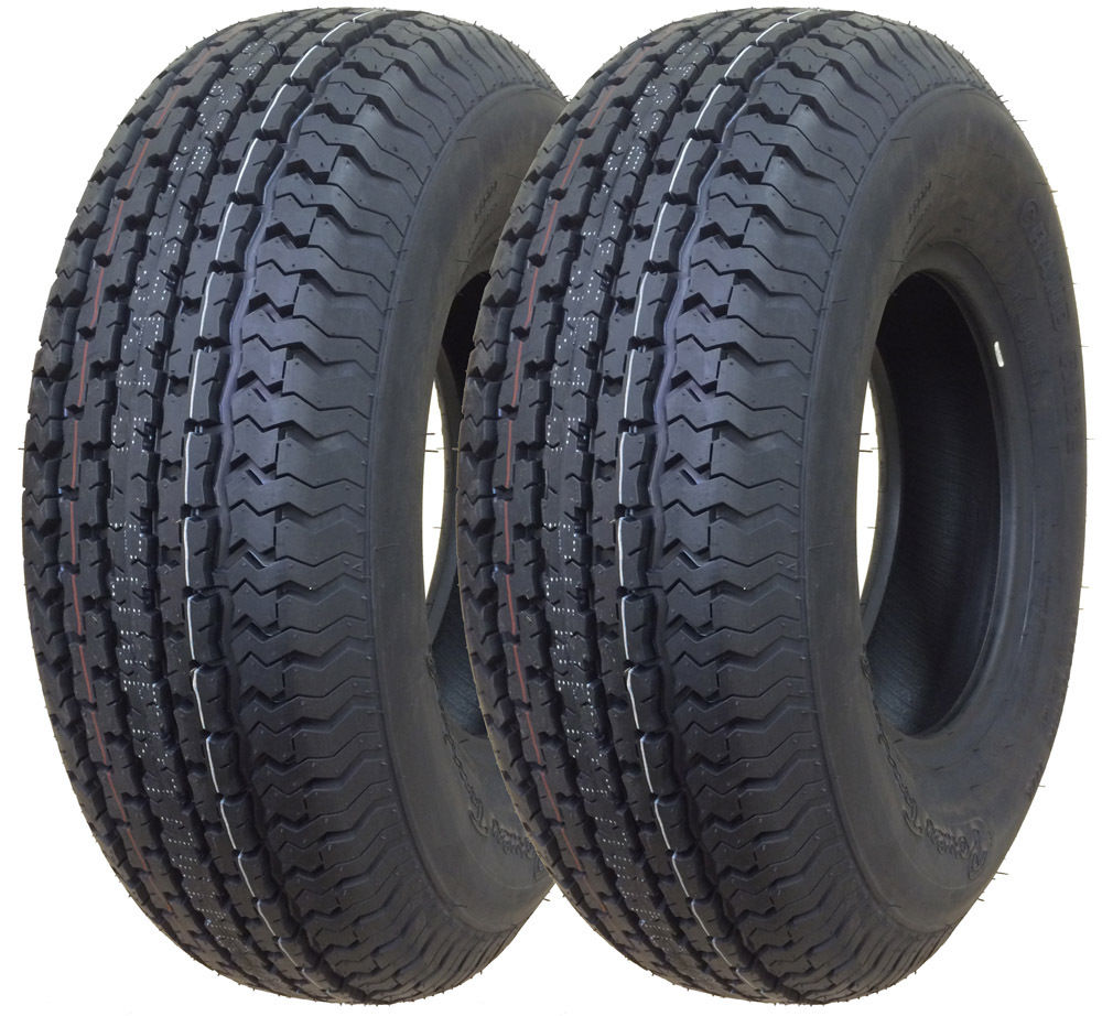 Set of 2 New Premium Trailer Tires ST 225/75R15 10PR Load Range E - 11017