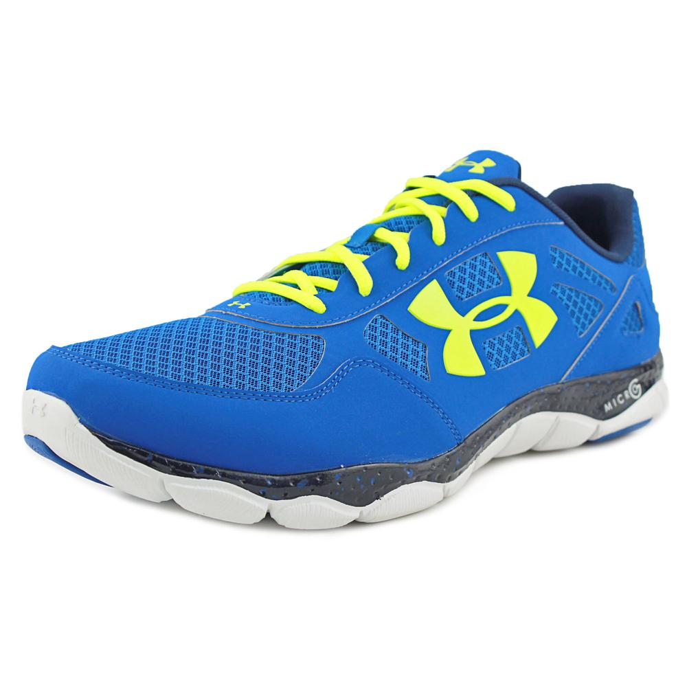 Under Armour Micro G Engage BL Men Round Toe Synthetic Blue Running Shoe