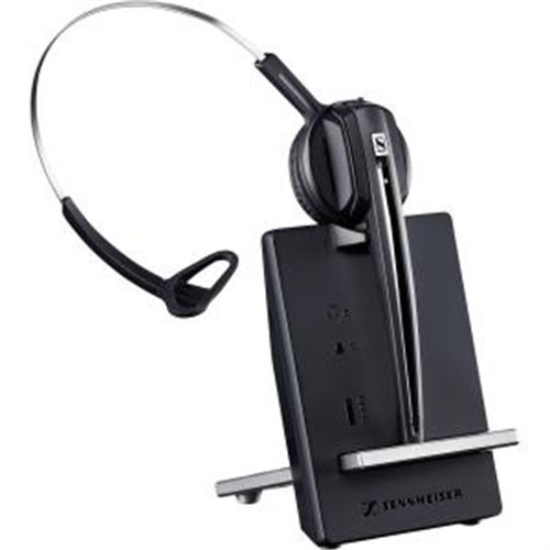 Sennheiser D 10 Phone Headset - Mono - Wireless - Dect 6.0 - 590 Ft - 150 Hz - 6.80 Khz - Over-the-head, Over-the-ear - Monaural - Supra-aural - Noise Cancelling Microphone (506410)
