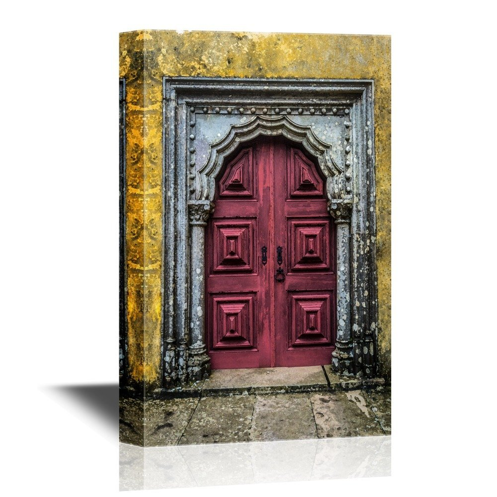Wall26 Doors Canvas Wall Art Old Door In The City Of Lisbon Portugal Gallery Wrap Modern Home Decor Ready To Hang 12x18 Inches Walmart Com