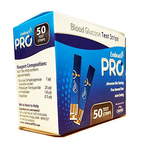 Embrace Pro Blood Glucose Test Strips - 50 Count