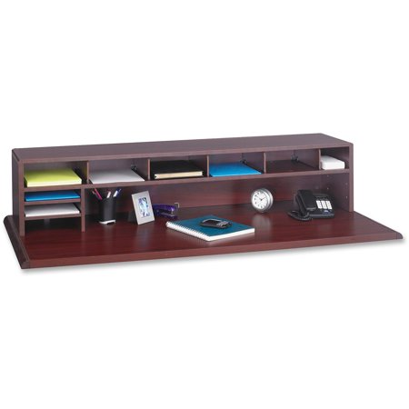 Safco, SAF3671MH, Low-Profile Wood Desktop Organizer, 1 Each, Mahogany