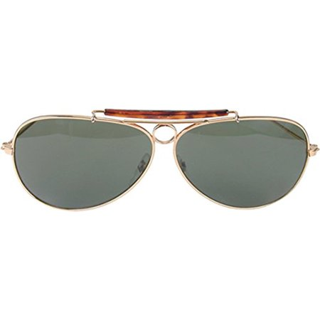 Aviators Gold Adult Costume Glasses - image 1 de 1