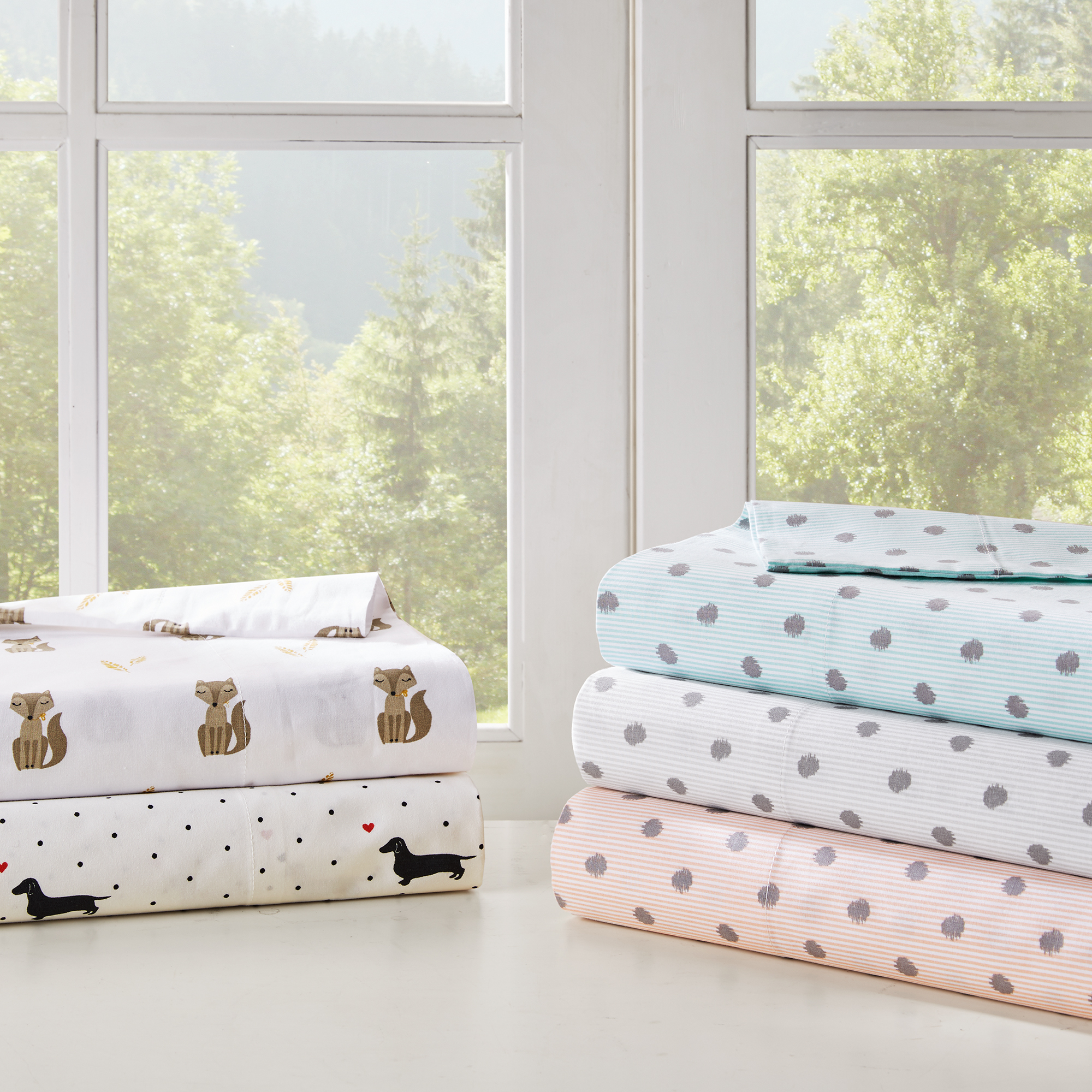 Comfort Classics Printed Novelty Cotton Percale Sheet Set