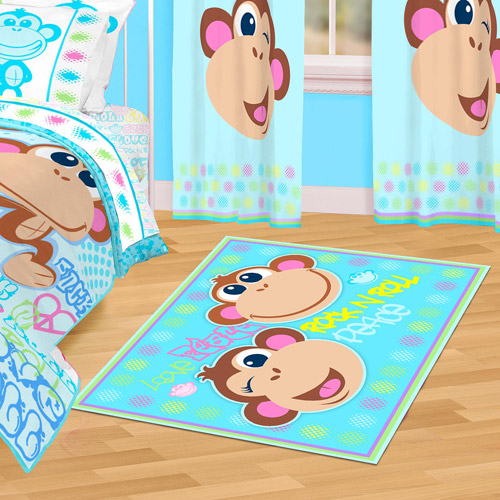 "Mainstays Nylon Rectangle Accent Rug, Monkey, 40"" x 56"""