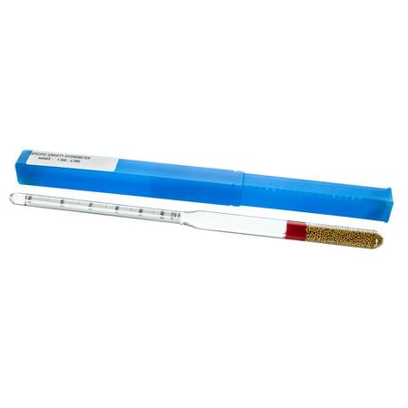 Laboratory Hydrometer - Specific Gravity, Heavy Liquids, Range 1.500 to 2.000 x 0.010 - Includes Protective Case - Eisco Labs