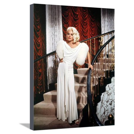 Harlow Canvas Print - HARLOW, 1965 directed by GORDON DOUGLAS Carroll Baker (photo) Stretched Canvas Print Wall Art