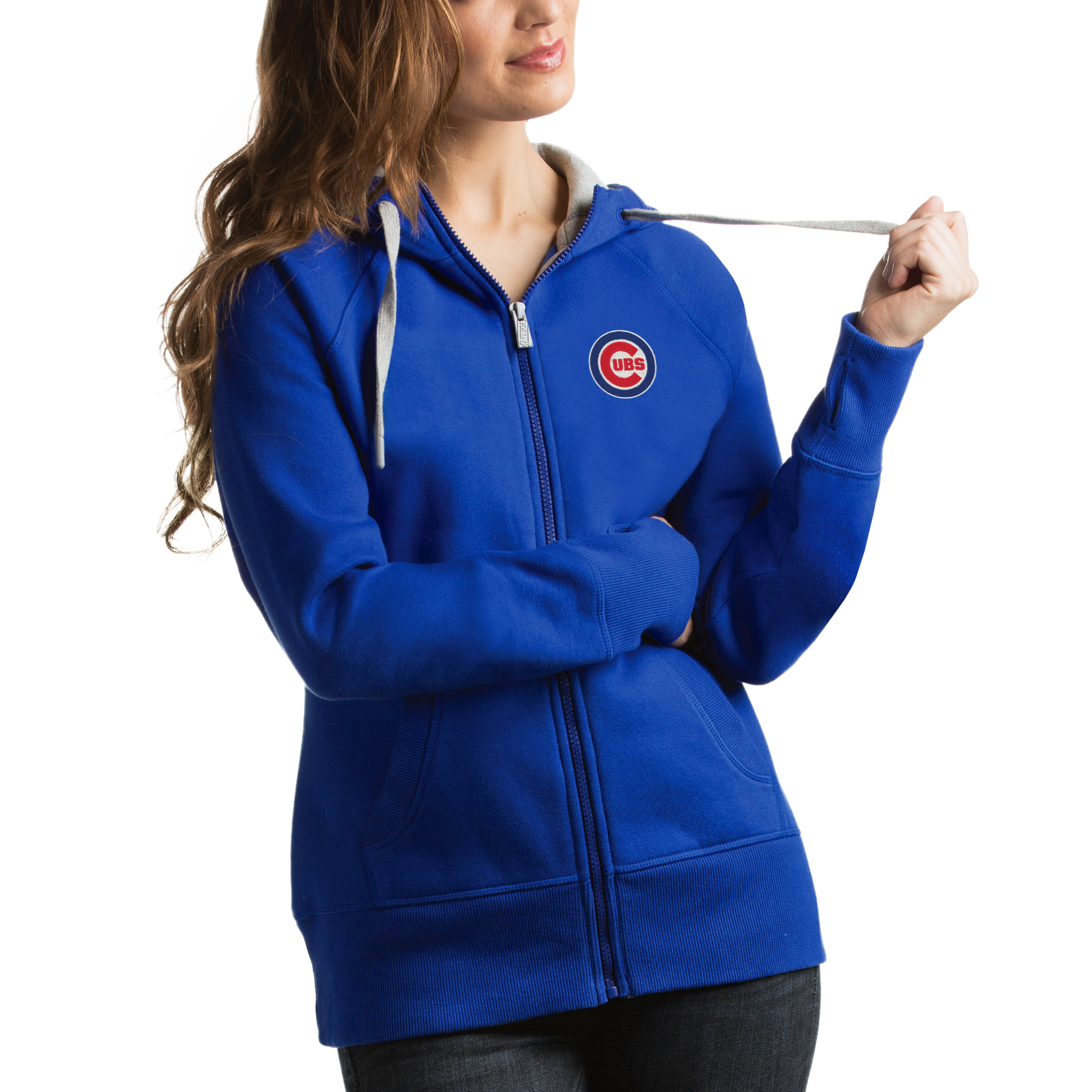 Chicago Cubs Antigua Women's Victory Full-Zip Hoodie - Royal