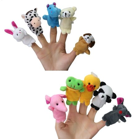Puppet Free Ship (10pc Story Time Cute Zoo Animal Finger Puppets Toy (A1) US Seller Ship Fastgift, birthday, holiday, christmas, new year By)