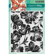 "Penny Black Cling Rubber Stamp, 5"" x 7.5"" Sheet, Poppy Pattern"