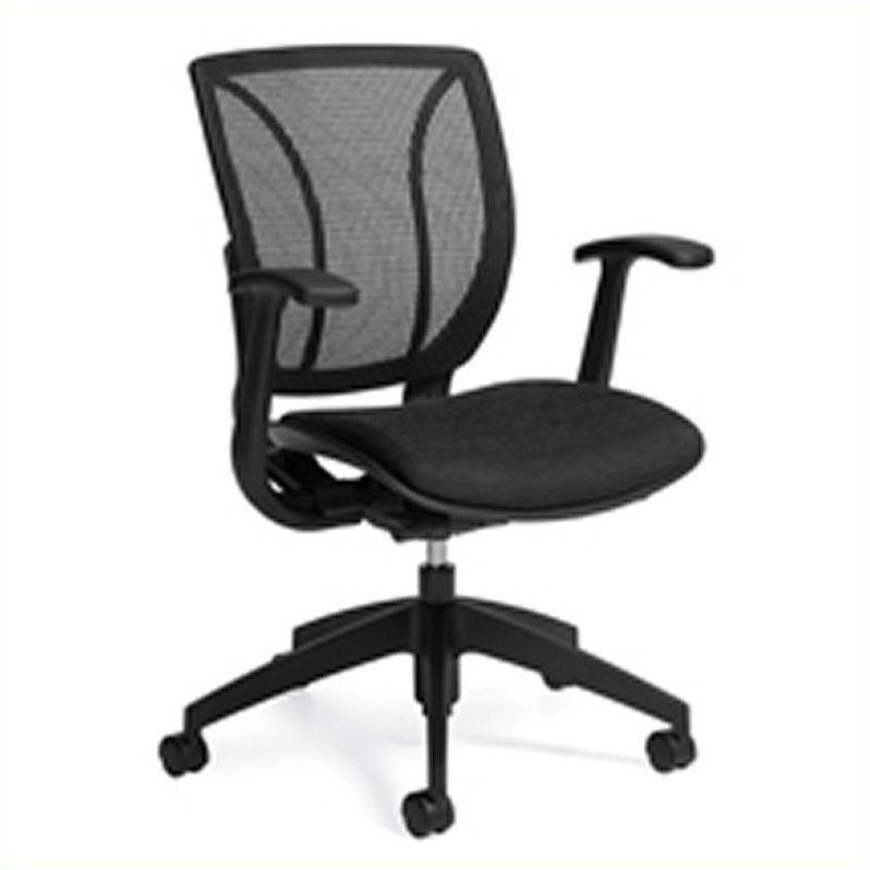 Global Roma Mesh Medium Posture Back Office Chair in Black