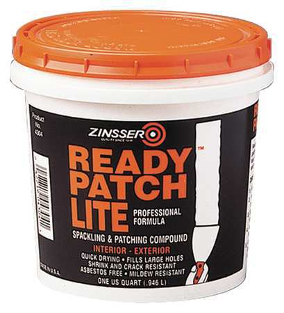 ZINSSER 04304 Patching Compound, 1 qt, Pail, White