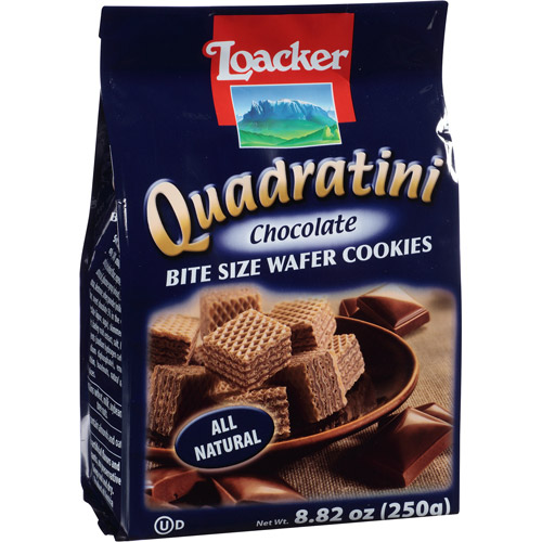 Loacker Quadratini Chocolate Wafer Cookies, 8.82 oz, (Pack of, 8)
